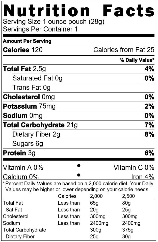 Cinnamon Granola 1 oz ingredients